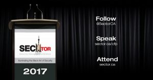 SecTor Security Education Conference 2017 - Follow Speak Attend